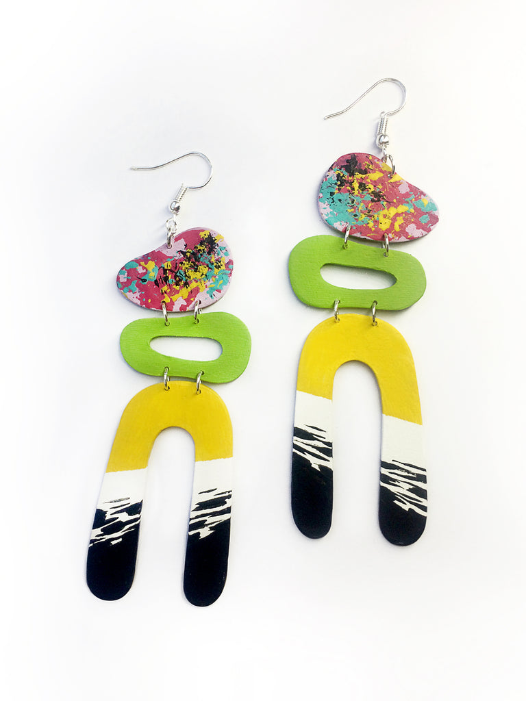Statement_handpainted_U_shape_earrings