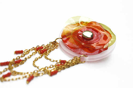 handmade-perspex-floral-brooch-in-red-yellow