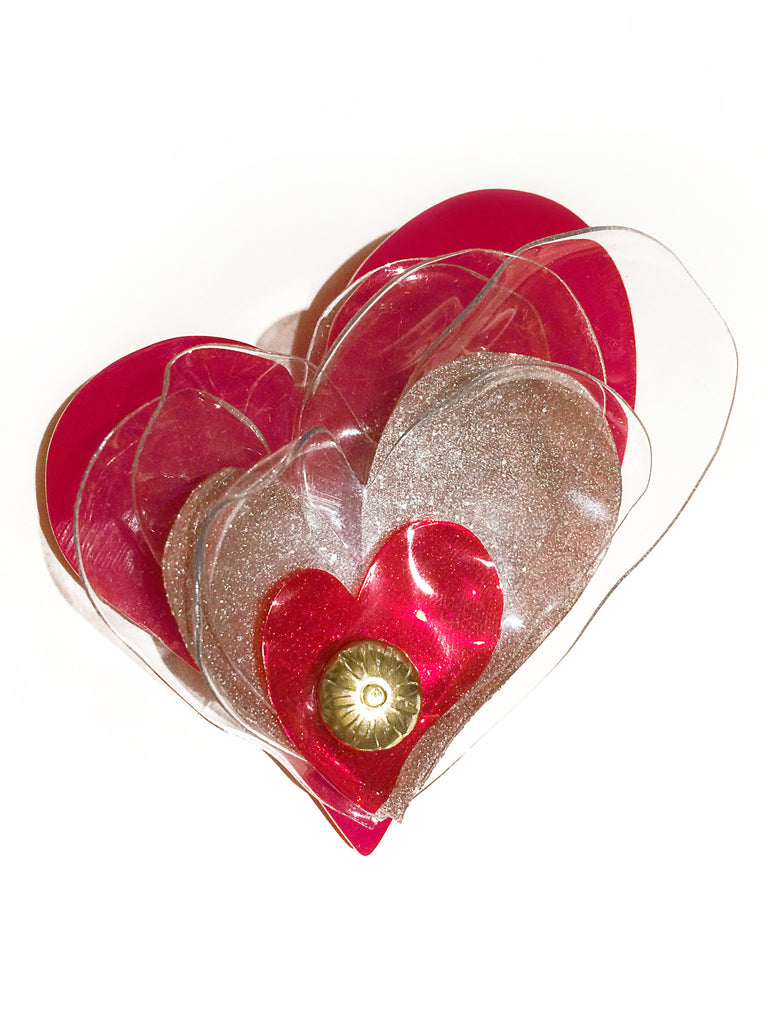 Red Valentine Brooch