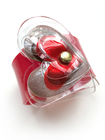 Red Valentine Plastic Bottle Cuff