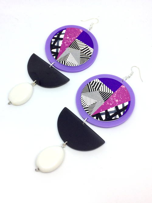 acrylic_jewellery_hand_painted_disc_earrings