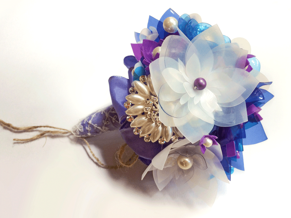 Wedding brooch flower bouquetwedding flowers ideasenna enna wedding diy flower bouquet izmirmasajfo Images