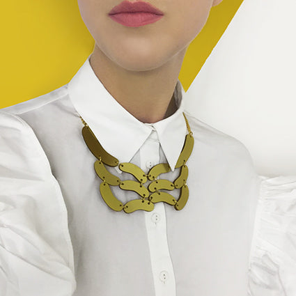 collar necklace gold chain