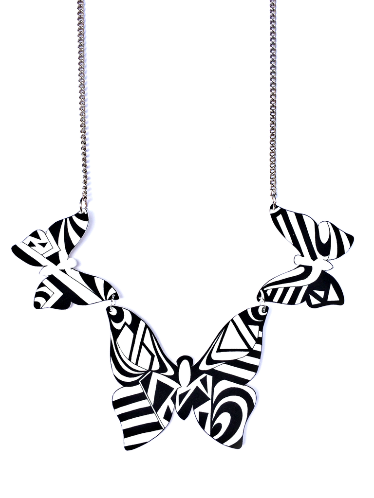 monochrome_butterfly_statement_necklace