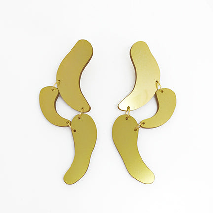Clip on Statement Oval Shapes Earrings