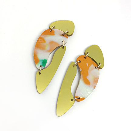 Quirky Cut Out Earrings with Clips