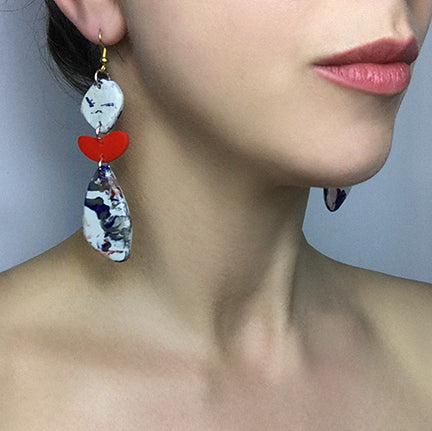 red-and-marble-recycled-earrings