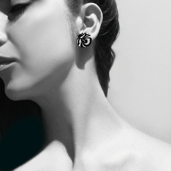 small-circle-monochrome-earrings