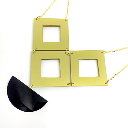 Cut Out Square Statement Necklace