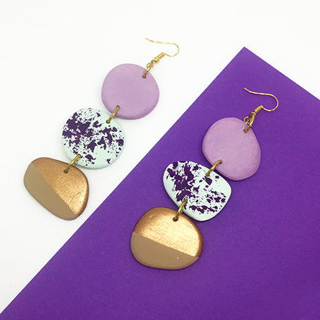 drop tiered earrings