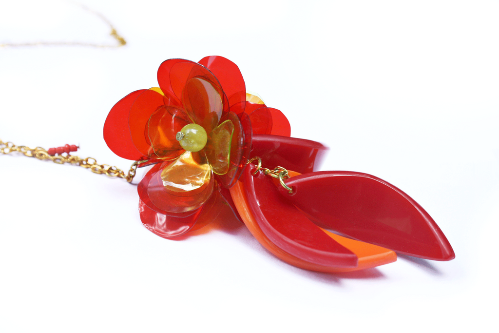 upcycled_flower_necklace_red_pendant_by_enna