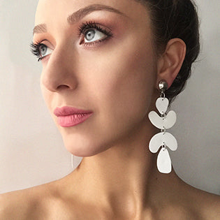 drop statement earrings with clip-on