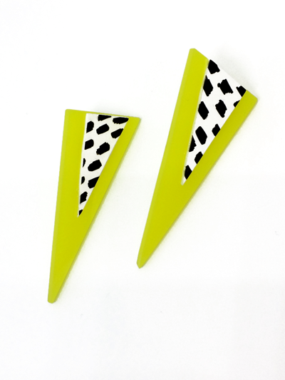 yellow_triangular_earrings