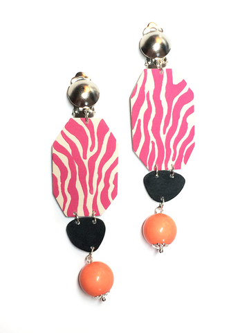 zebra_block_clipon_earrings