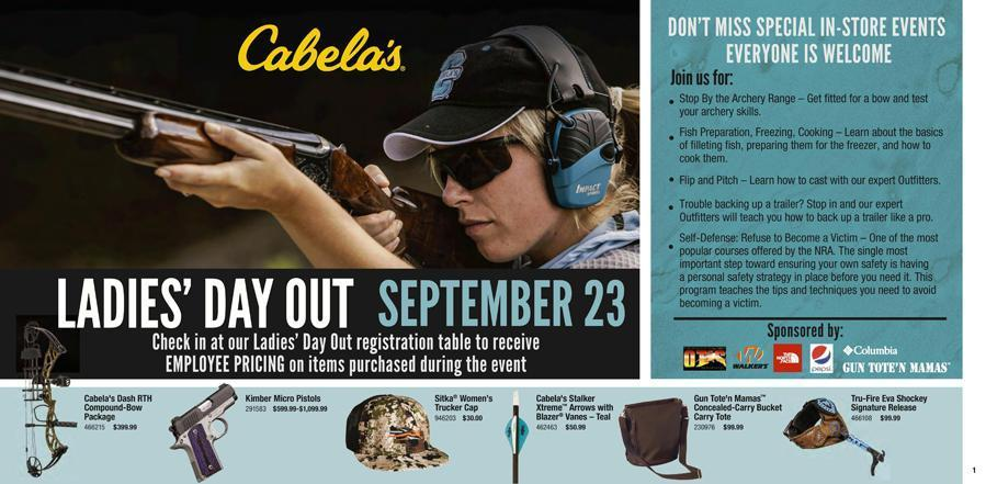 Cabela's Ladies Day Out! - September 23rd, 2017