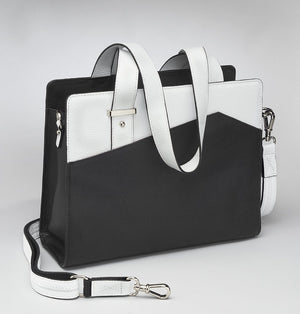 BLACK & WHITE PURSE PORTFOLIO - GTM 82 - Concealed Carry Handbags - CCW Purses - GunTotenMamas