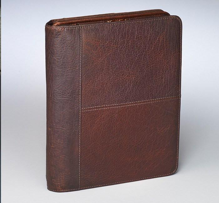 GTM-03 USA Bison Leather CCW iPad Case Brown