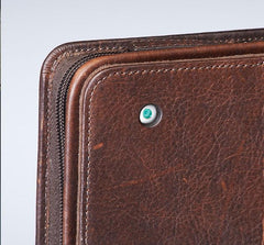 GTM-03 USA Bison Leather CCW iPad Case Brown - GunTotenMamas