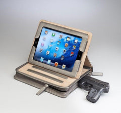 GTM-08 Leather CCW iPad Case - Concealed Carry Handbags - CCW Purses - GunTotenMamas