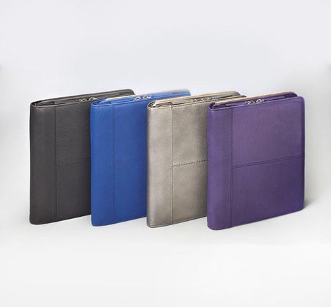 GTM-08 Leather CCW iPad Case Purple - Concealed Carry Handbags - CCW Purses - GunTotenMamas