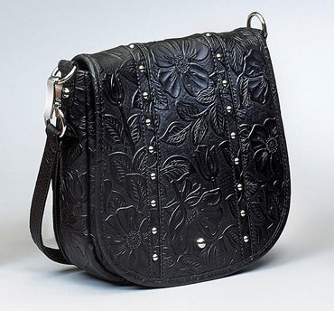 GTM-16 Simple Bling Tooled Leather - 3 Colors - Concealed Carry Handbags - CCW Purses - GunTotenMamas