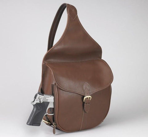 GTM-189 Concealed Carry Shoulder Saddlebag Mocha Brown - GunTotenMamas