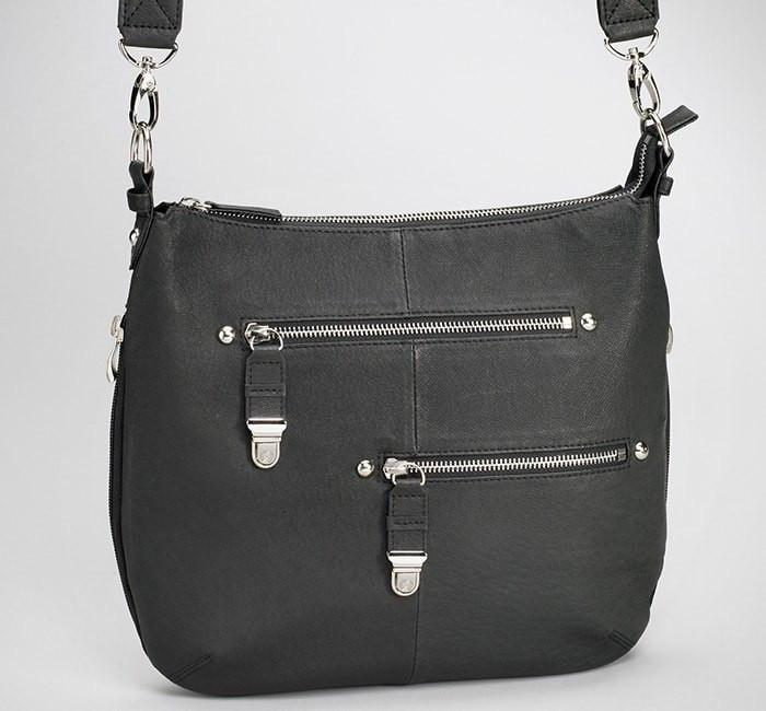 GTM-23 BK Chrome Zip Handbag Black