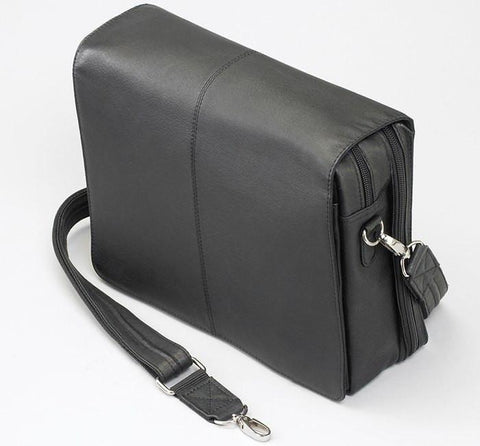 GTM-26 Flap Over Messenger Black - Concealed Carry Handbags - CCW Purses - GunTotenMamas
