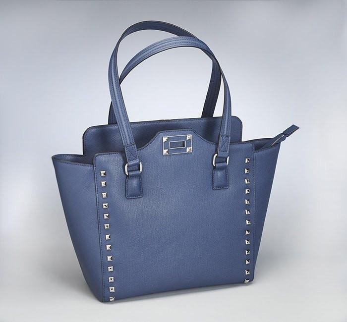 GTM-77 Blue Studded Tote - Concealed Carry Handbags - CCW Purses - GunTotenMamas