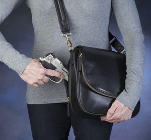 GTM-88 Drop-Front Handbag - Concealed Carry Handbags - CCW Purses - GunTotenMamas