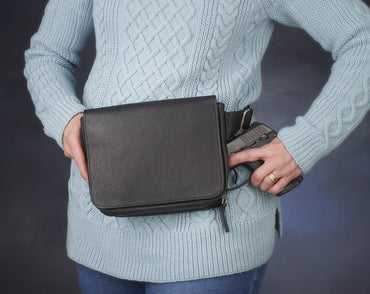 TWAW/GTM-06 Leather Waist Pack - 4 Colors - Concealed Carry Handbags - CCW Purses - GunTotenMamas