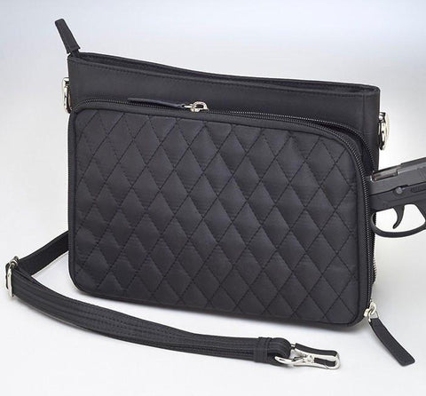 GTM/QMF-22 Quilted Shoulder Clutch - Concealed Carry Handbags - CCW Purses - GunTotenMamas