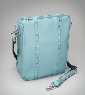 GTM-35 Ice Blue Lambskin Vertical Cross Body - Concealed Carry Handbags - CCW Purses - GunTotenMamas