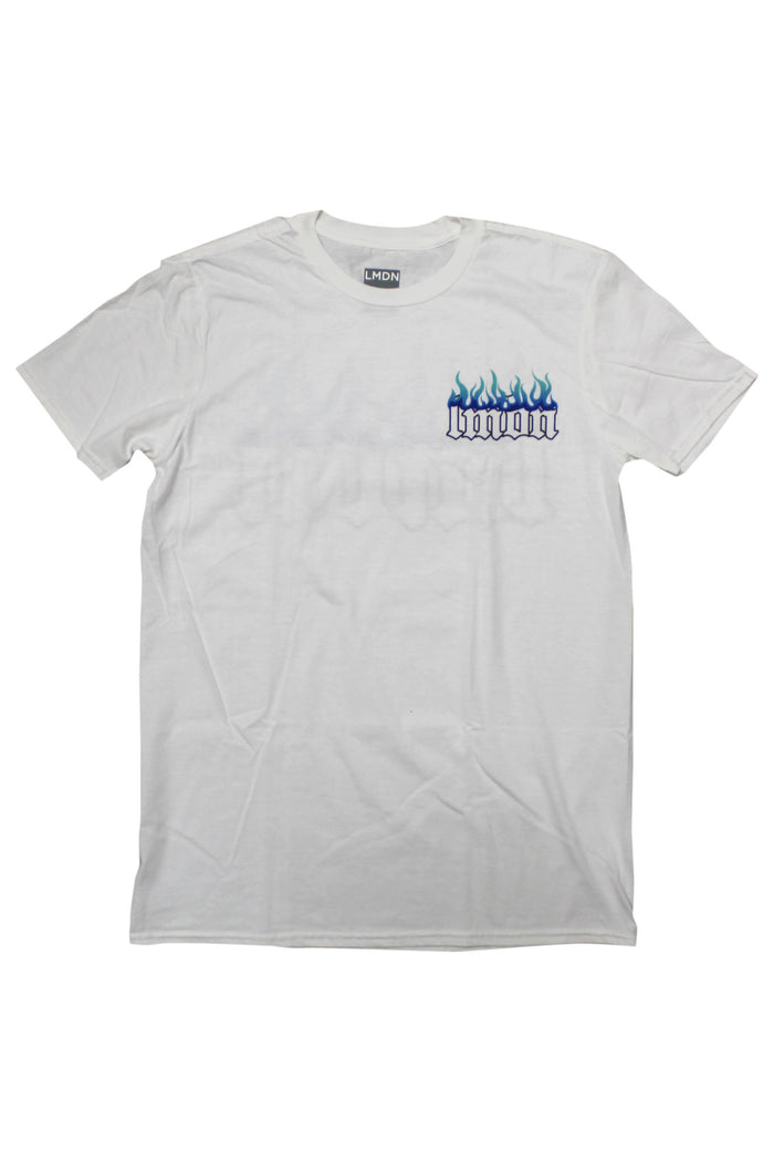 Logo T-Shirt White - Inverted Flame