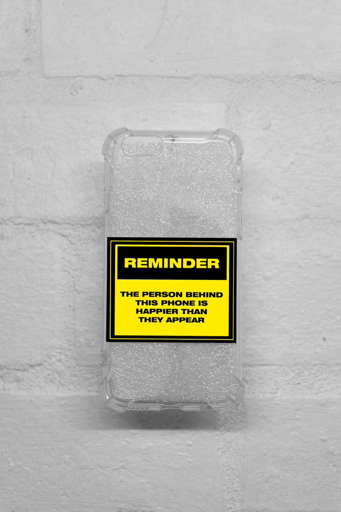 iPhone Case - Clear Caution Signs