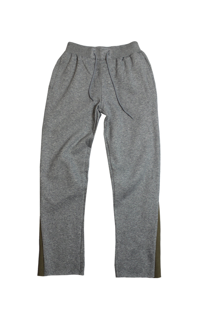Reworked Flare Joggers - Grey/Beige Small