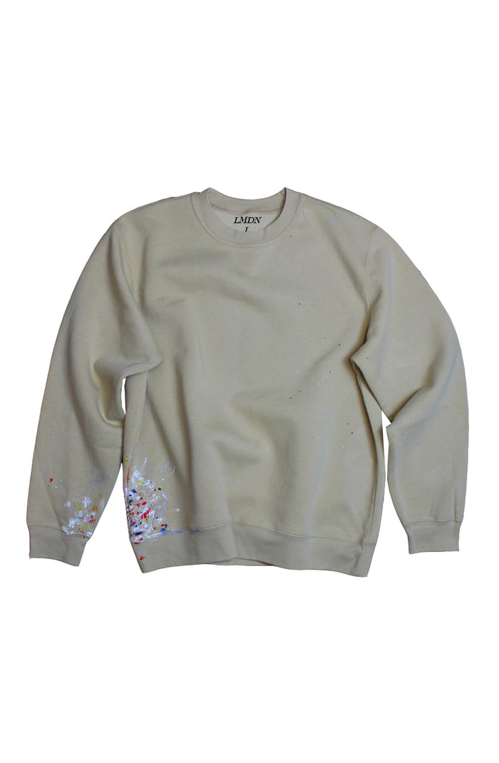 Paintwork Sweater - Beige Large
