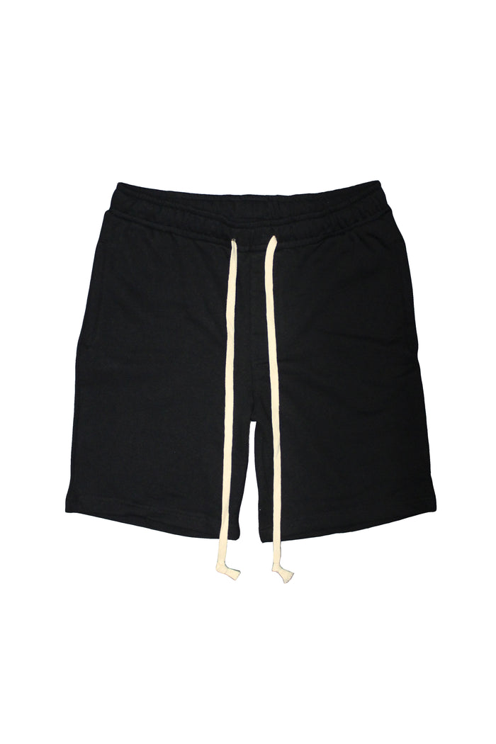 Drawstring Shorts - Black/Off White