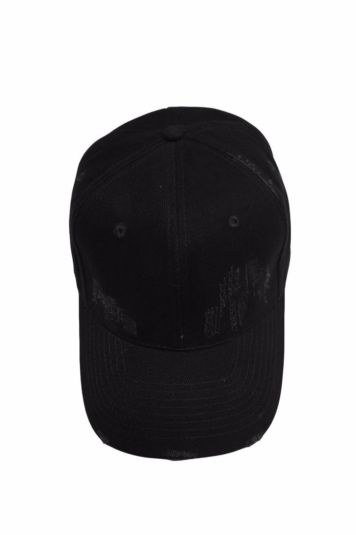 Distressed Cap - Black