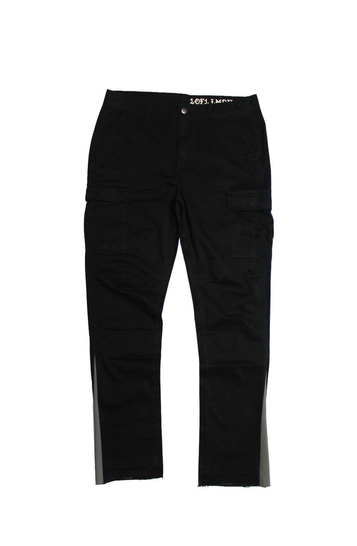 Reworked Flare Cargos - Black/Grey Medium