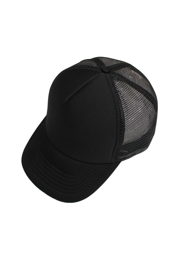 Neoprene Trucker Cap - Black