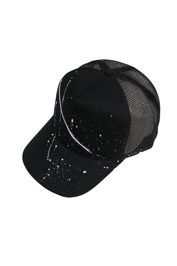 Splatter Trucker Cap - Black