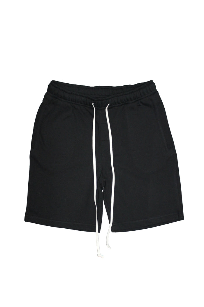 Drawstring Shorts - Black/White