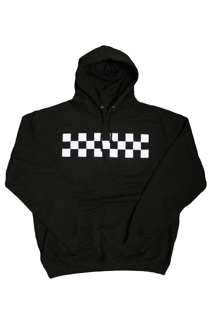 Checkered Hoodie - Black