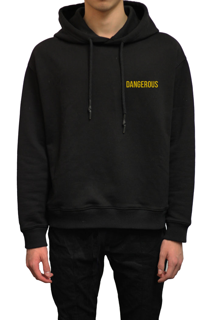 Dangerous Oversized Cropped Hoodie