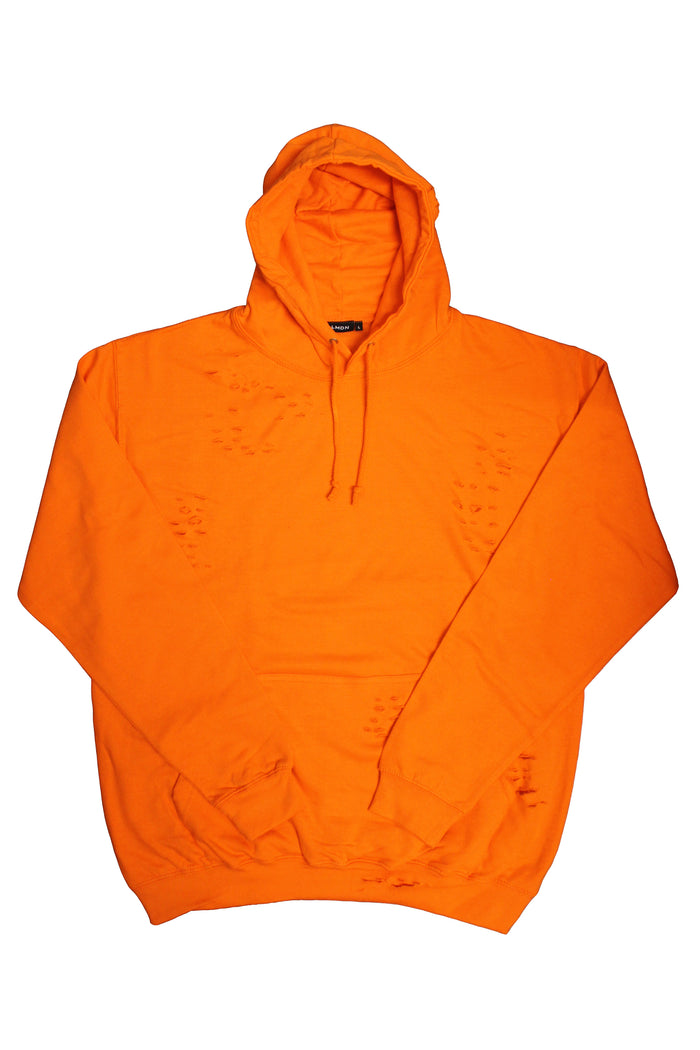 Distressed Hoodie - Orange