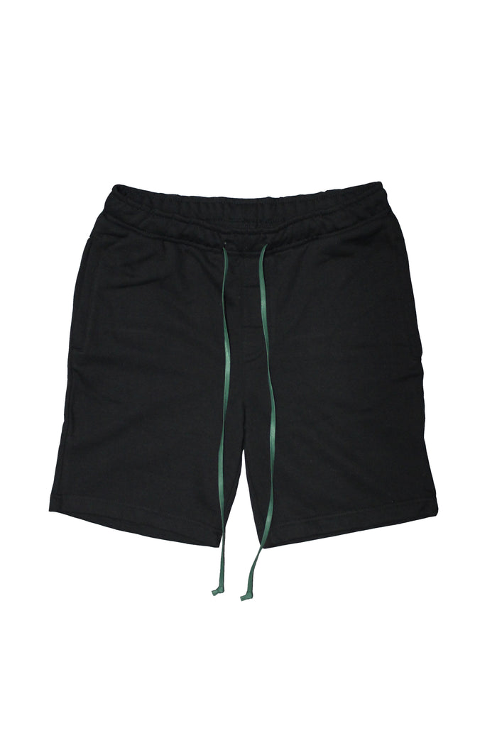 Drawstring Shorts - Black/Green