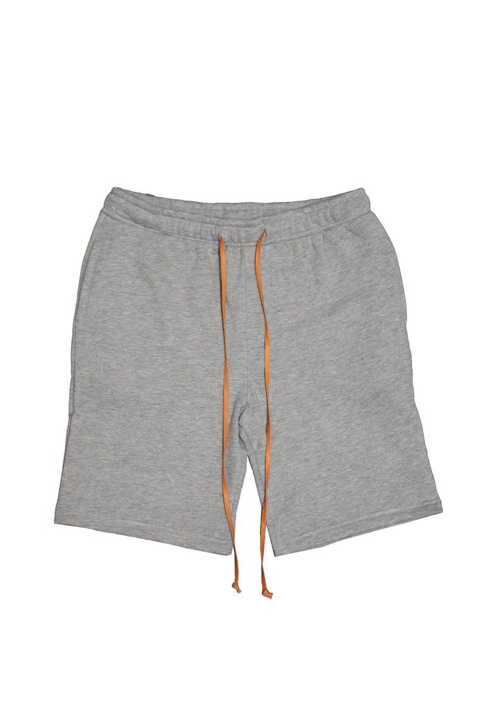Drawstring Shorts - Grey/Orange