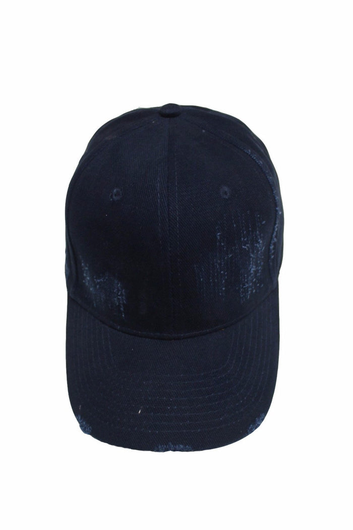 Distressed Cap - Navy