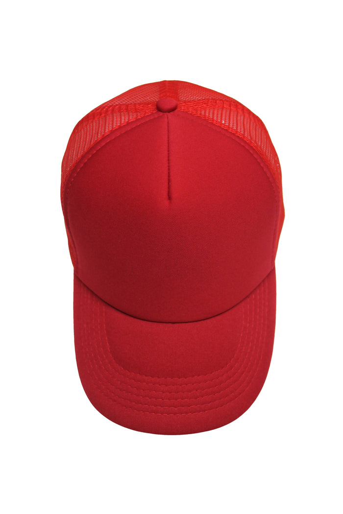 Neoprene Trucker Cap - Red